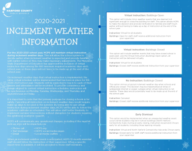 2020-2021 Inclement Weather Information